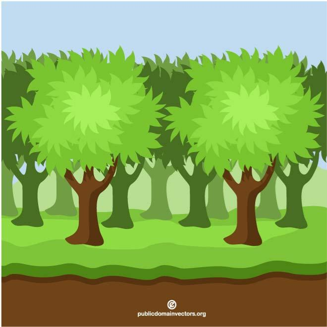 Dense clipart vector free DENSE WOODS - Free vector image in AI and EPS format. vector free