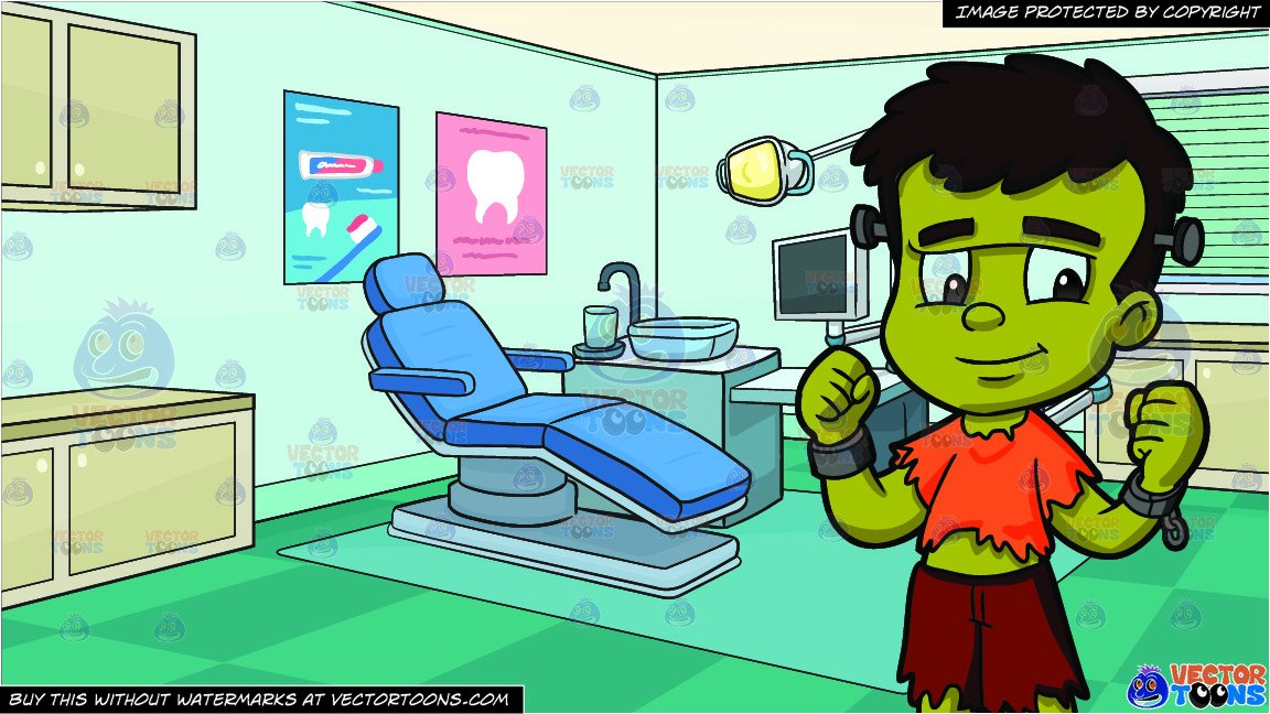 Dental clinic clipart png royalty free download A Boy In A Frankenstein Costume and Dental Clinic Background png royalty free download