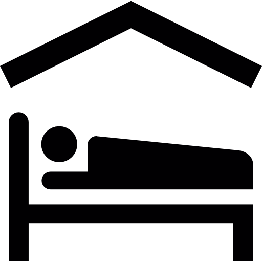 Dentro de la casa clipart black and white graphic Persona tumbada en la cama dentro de una casa | Descargar ... graphic