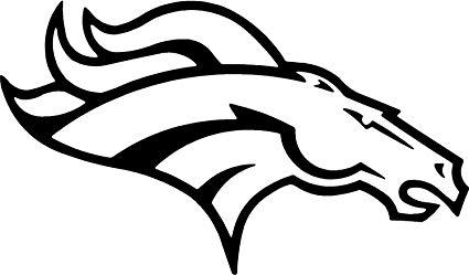 Denver broncos football clipart black and white image transparent stock Denver Broncos Nfl Logo Sport Car Vinyl Decal Sticker / Payton Manning  (5.5\