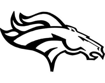 Denver broncos football clipart black and white svg free Denver Broncos Clipart & Look At Clip Art Images - ClipartLook svg free