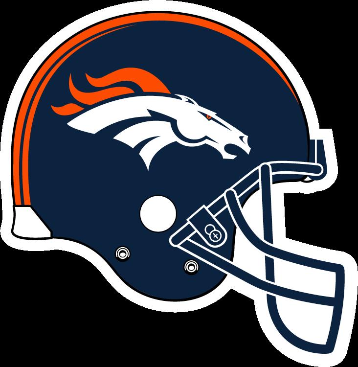 Denver broncos helmet clipart