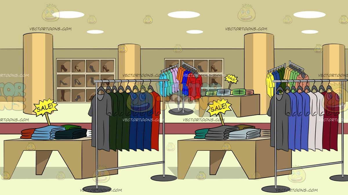 Department store clipart royalty free stock Department Store Clothing Sale Background royalty free stock