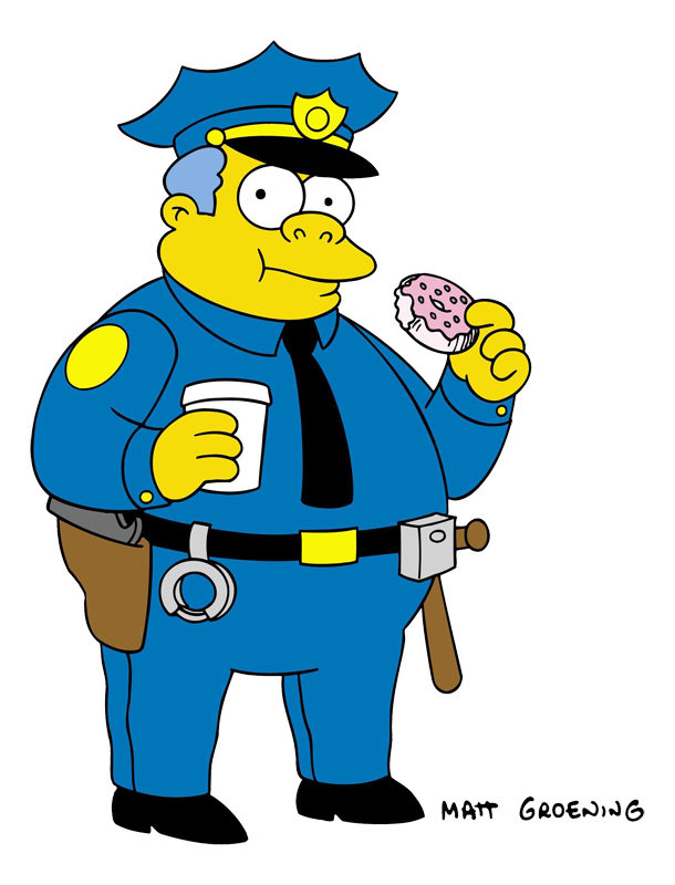 Deputy car clipart. Clancy wiggum simpsons wiki