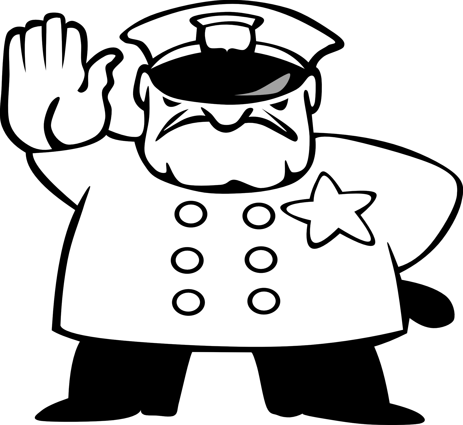 Police black and white. Deputy car clipart