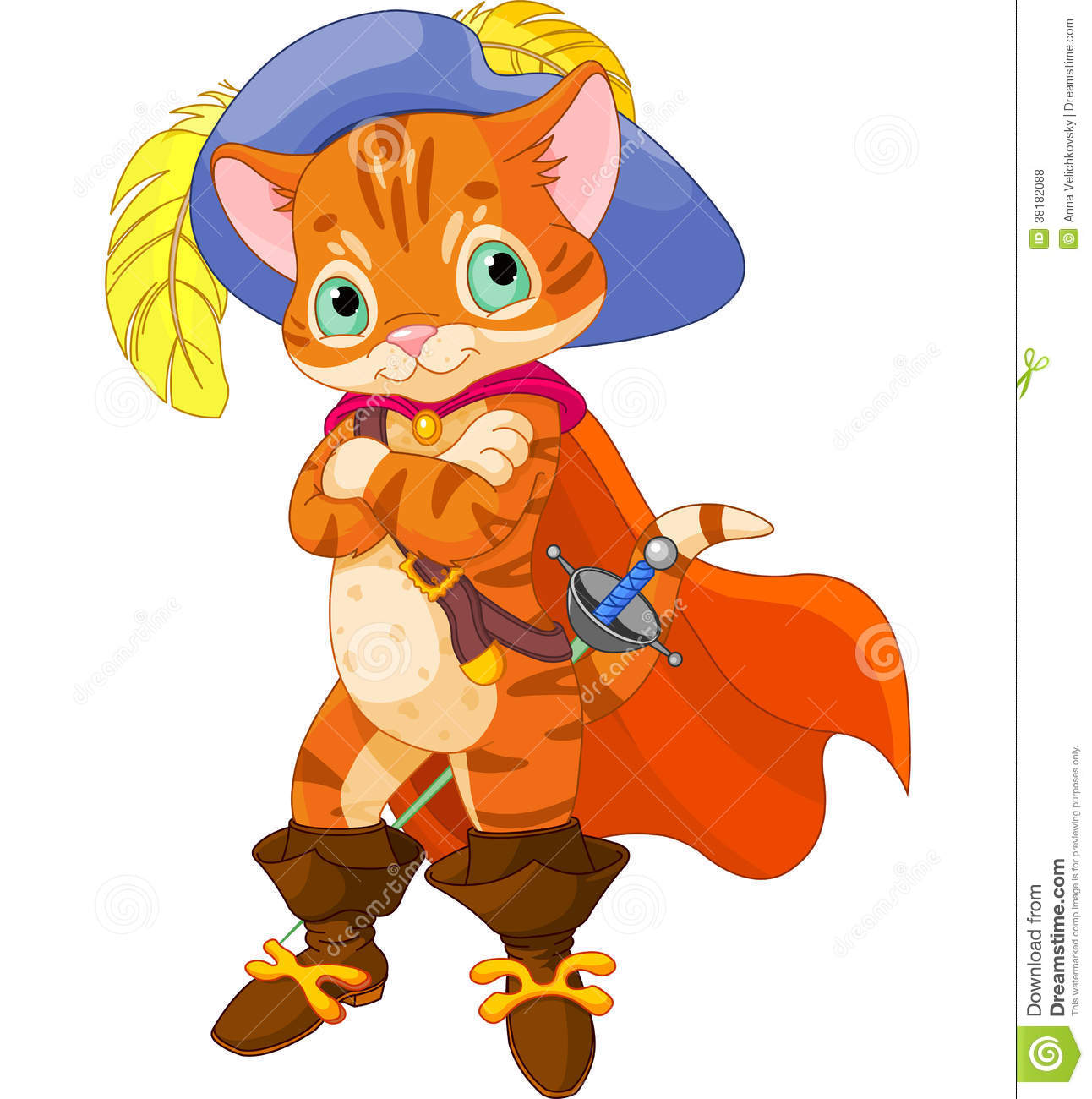 Puss in boots royalty. Der gestiefelte kater clipart