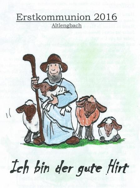 Der gute hirte clipart svg black and white stock Erstkommunion | Pfarre Altlengbach svg black and white stock