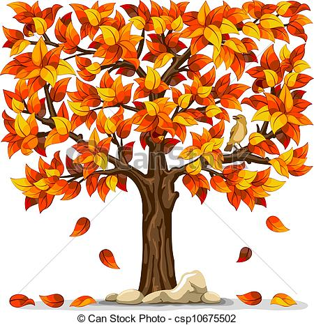 Der herbst clipart. Clipartfest autumn tree with