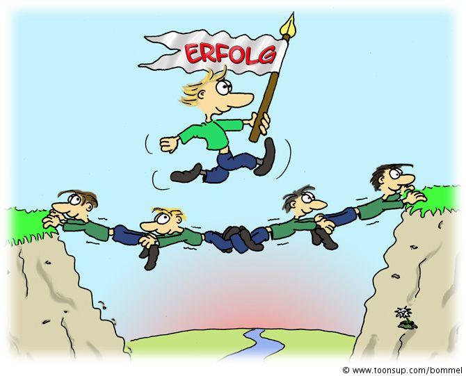 Der weg clipart. Cartoon zum teamerfolg