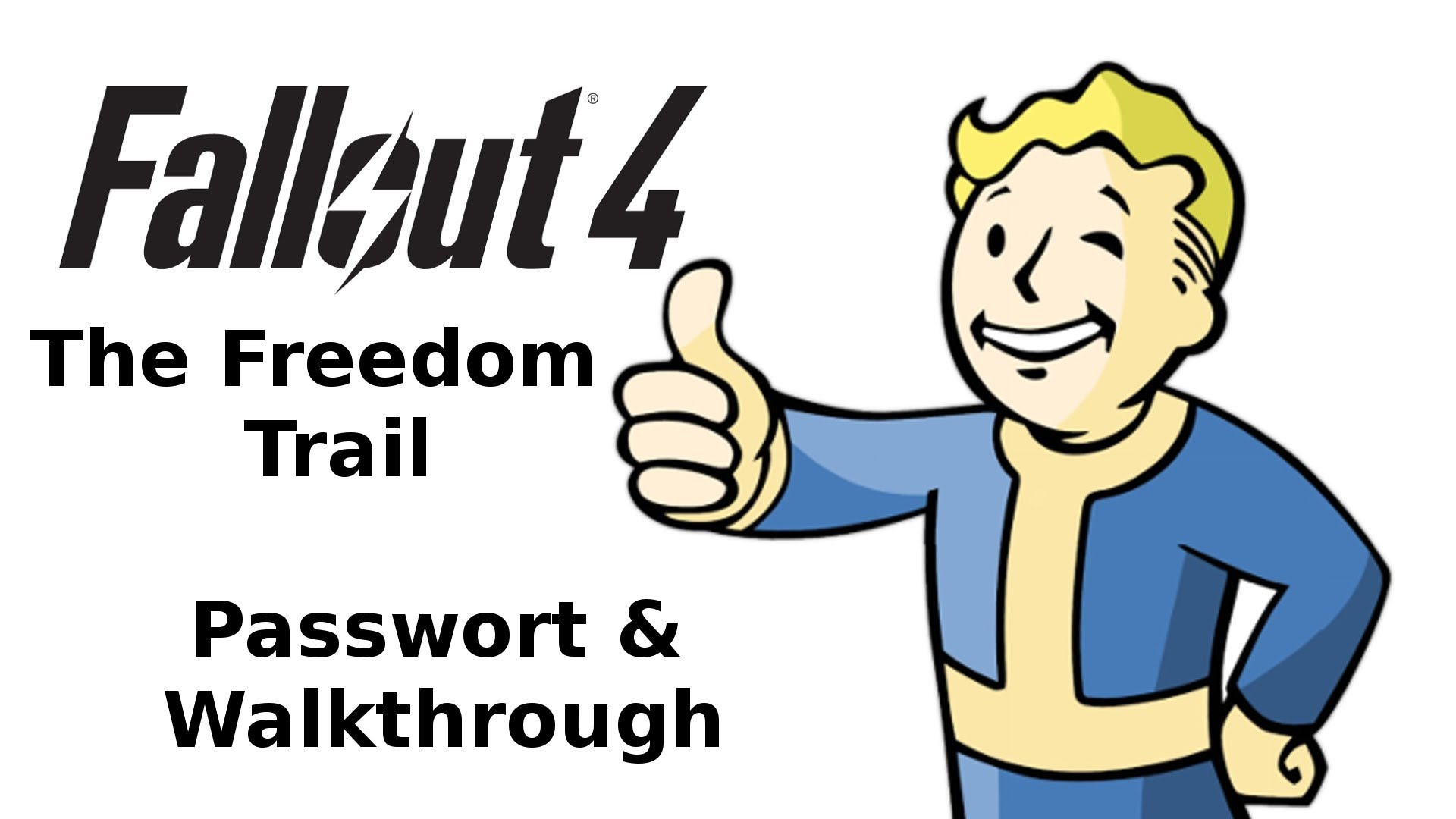 Der weg clipart clip black and white download Fallout 4 - The Freedom Trail - Password & Walkthrough / Der Weg ... clip black and white download