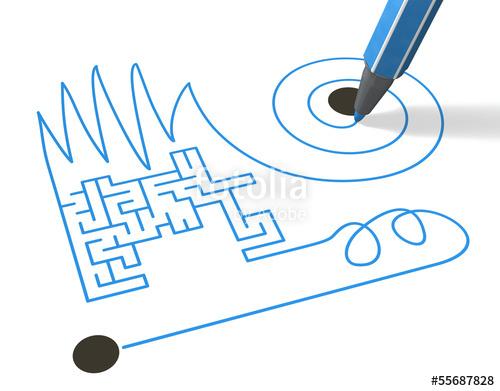 Der weg ist das ziel clipart graphic royalty free stock Start, Weg und Ziel