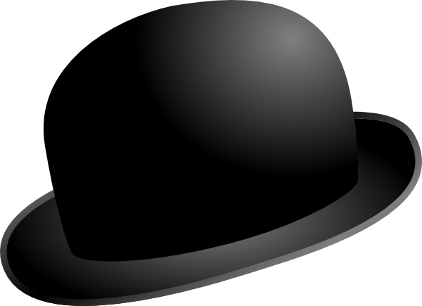 Derby hat clipart svg black and white Free Bowler Hat Cliparts, Download Free Clip Art, Free Clip ... svg black and white