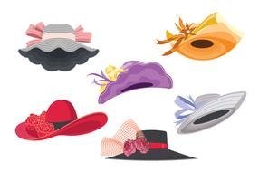 Women s derby hats clipart