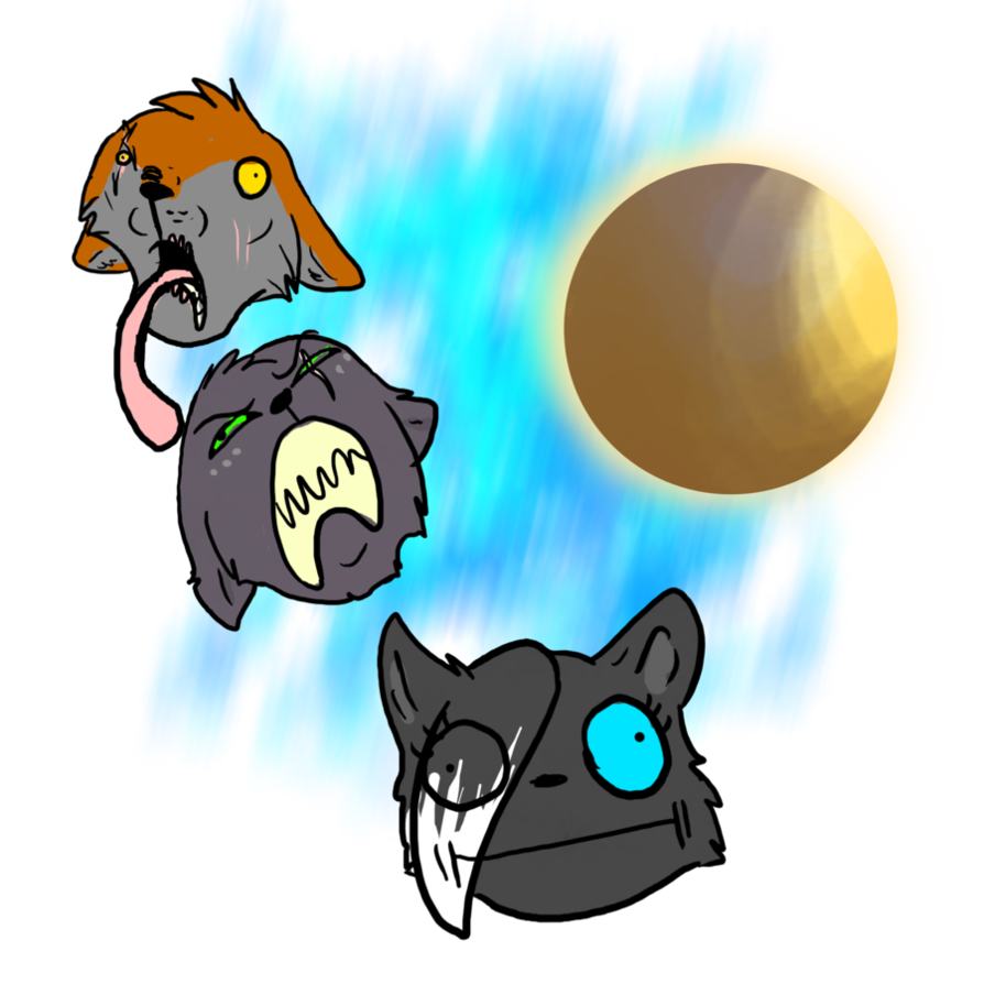 Derp sun clipart. Three wolf by tribble