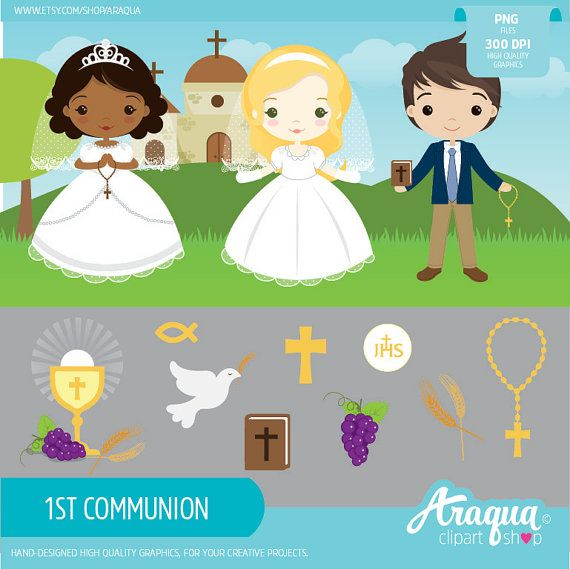 Descargar imagenes en formato clipart clipart freeuse download 1st Communion Boys & Girls Clipart Set - Instant Download ... clipart freeuse download