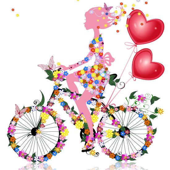 Descargar imagenes en formato clipart gratis svg free stock Vector Clipart: San Valentín chica floral - Vector svg free stock