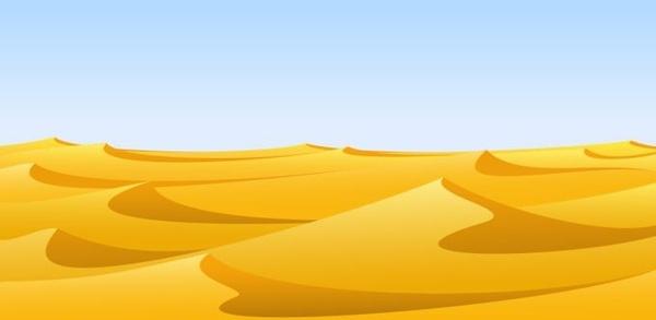 Desert background clipart