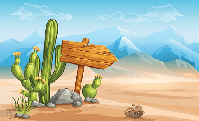 Desert background clipart free Wooden Sign in the Desert Mountains in the Background   Clipart ... free