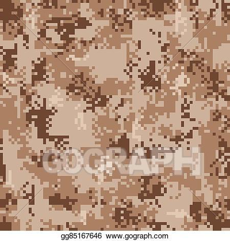 Desert camo clipart clip transparent stock Vector Art - Digital desert camouflage seamless pattern. EPS clipart ... clip transparent stock