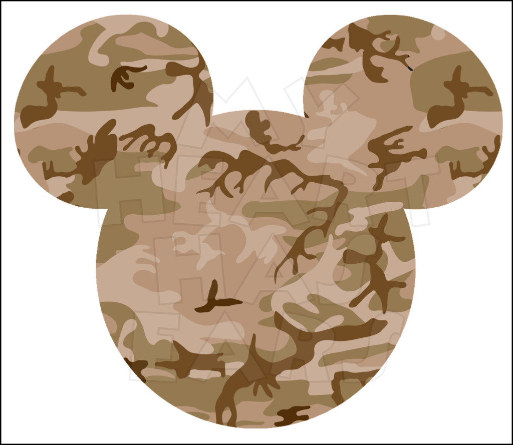 Desert camo clipart vector freeuse library Desert Camo Camouflage Mickey Mouse head INSTANT DOWNLOAD digital ... vector freeuse library