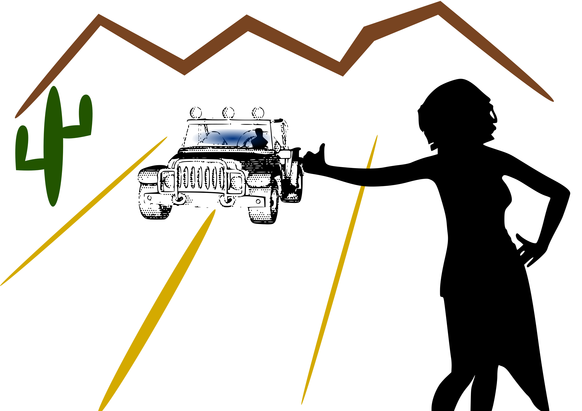 Desert car clipart png freeuse Clipart - Hitchhiking png freeuse