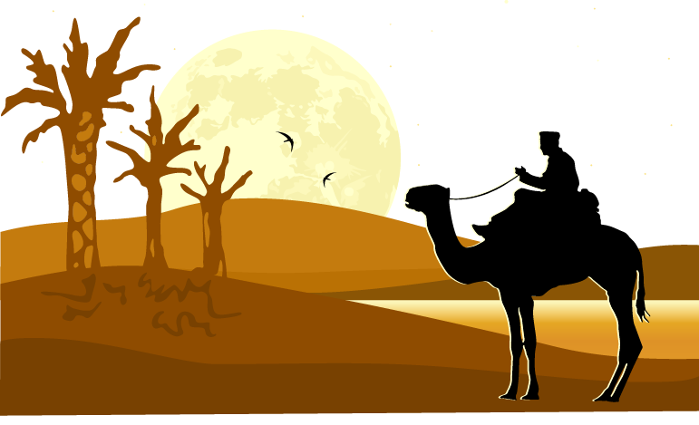 Sun desert clipart freeuse download Desert Silhouette at GetDrawings.com | Free for personal use Desert ... freeuse download