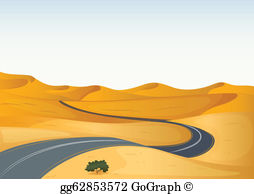 Desert road clipart clipart freeuse stock Desert Road Clip Art - Royalty Free - GoGraph clipart freeuse stock