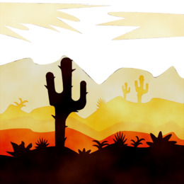 Desert sunset clipart vector library library Desert Sunset clipart - 1 Desert Sunset clip art vector library library
