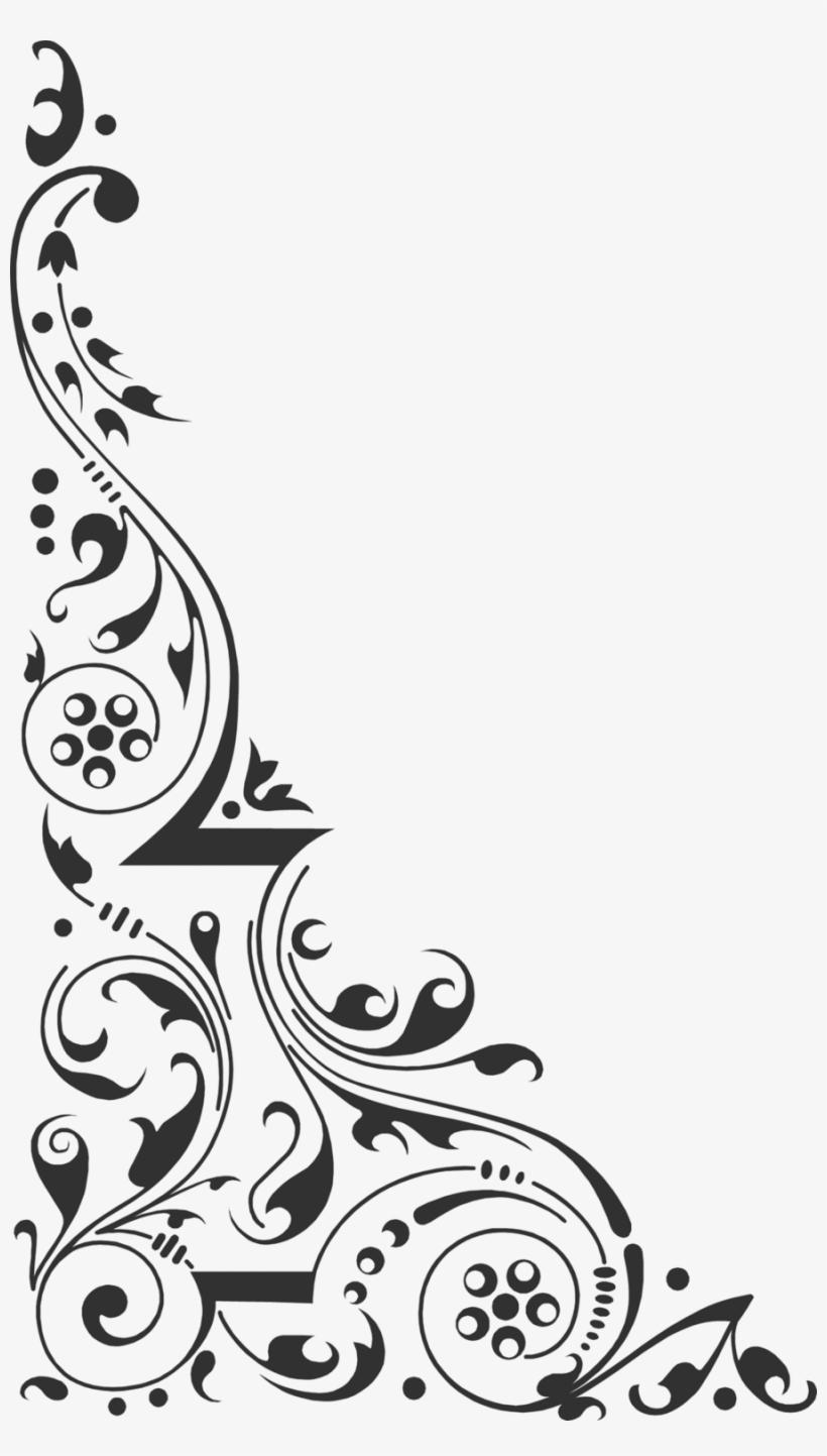 Design clipart hd clip art library download Corner Design Clipart Clip Art - Black & White Corner Design ... clip art library download