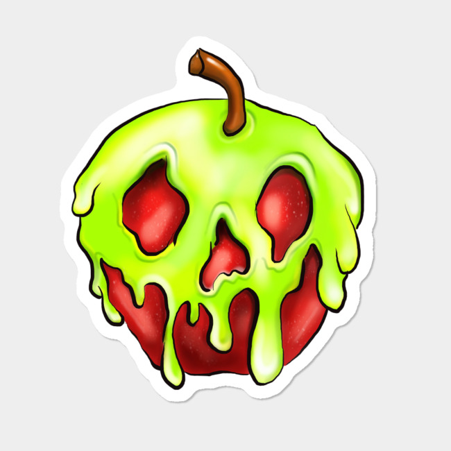 Design by humans clipart banner library download Poisoned Apple Sticker Sticker By SarahMagicMakeup Design By Humans banner library download