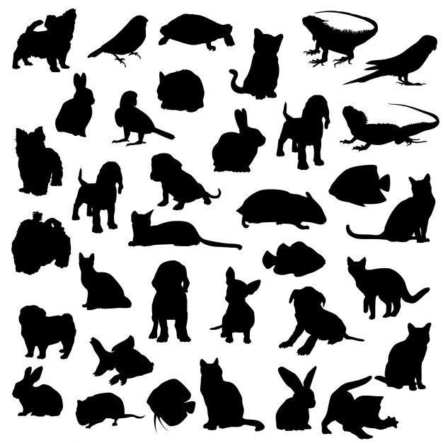 Design home clipart vector freeuse download Per animal home clipart vector silhouette design Vector | Premium ... vector freeuse download