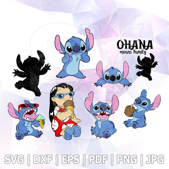 Design stitch clipart image freeuse library Lilo Stitch SVG File Design DXF Vector Format Cricut Iron on Layered ... image freeuse library