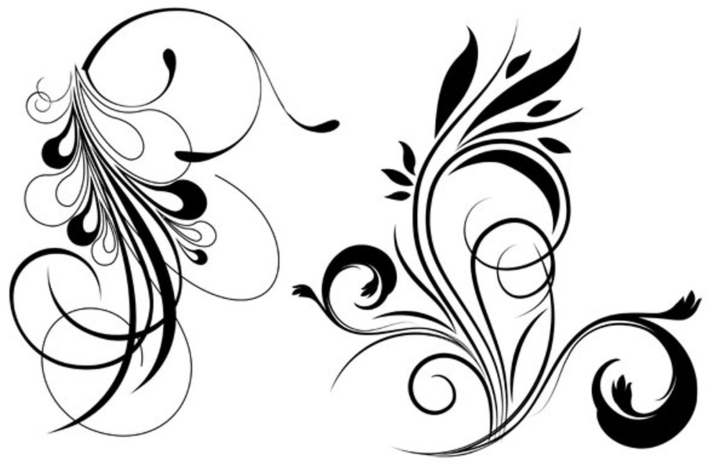 Free vector design clipart banner black and white library Free Vector Flowers Free, Download Free Clip Art, Free Clip Art on ... banner black and white library