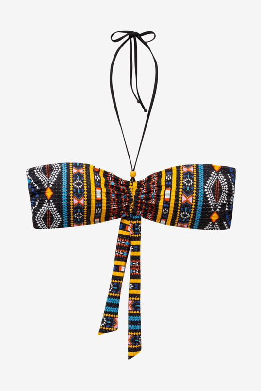 Desigual logo clipart banner freeuse African Slim Bikini Top Zoe banner freeuse