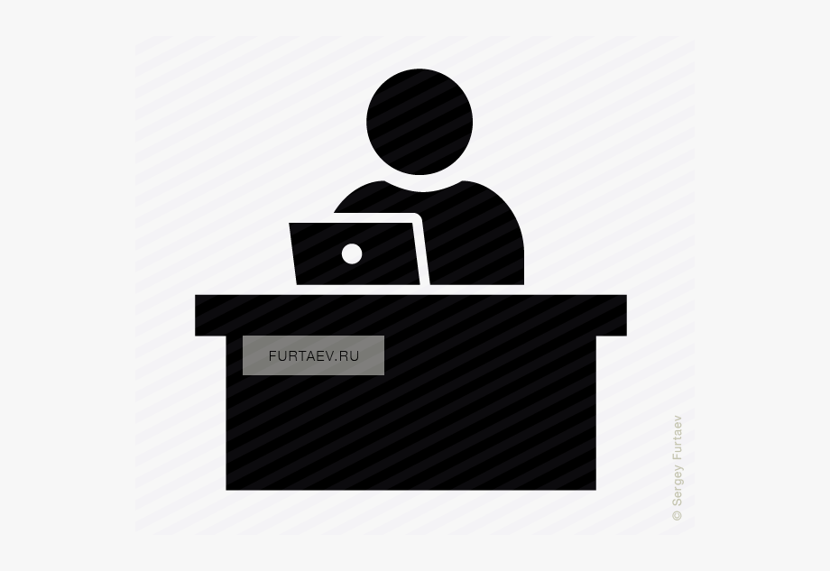 Woman working at desk clipart looking down clip free Laptop Icon Png - Person Sitting At Desk Icon #305107 - Free ... clip free