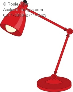 Desklamp clipart clip art freeuse download Clipart Image of a Red Adjustable Desk Lamp clip art freeuse download