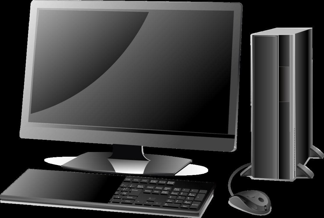 Desktop computers clipart jpg black and white stock Computer Monitor,Desktop Computer,Display Device Clipart - Royalty ... jpg black and white stock