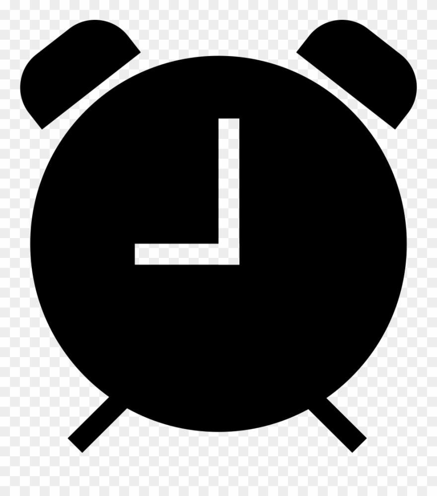Despertador clipart clip freeuse library Alarm Clock Black Symbol Comments - Siluetas Reloj Despertador ... clip freeuse library