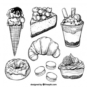 Desserts clipart black and white free buffet svg freeuse download Dessert Vectors, Photos and PSD files | Free Download svg freeuse download