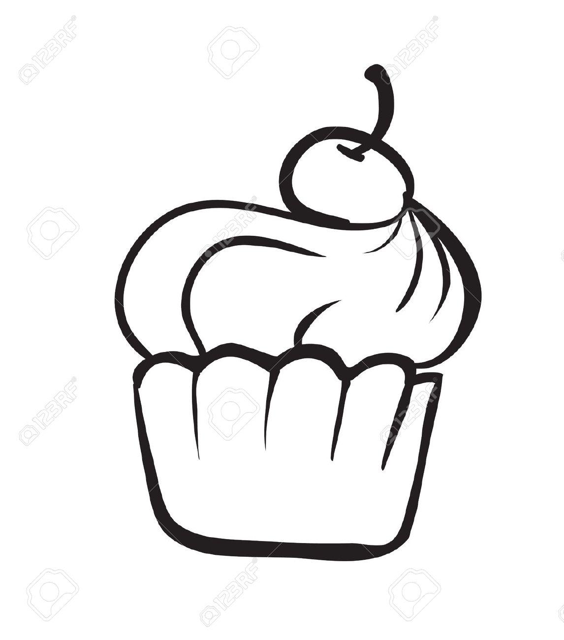 Dessert black and white clipart svg black and white stock Black And White Dessert Clipart | Free download best Black And White ... svg black and white stock