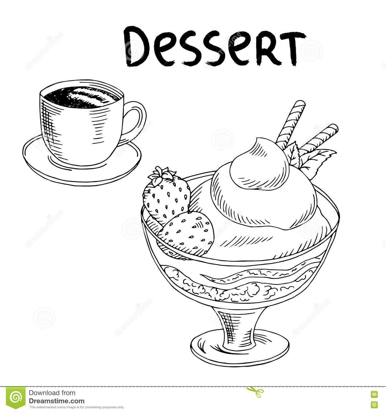 Dessert black and white clipart picture transparent download Desserts clipart black and white 2 » Clipart Portal picture transparent download