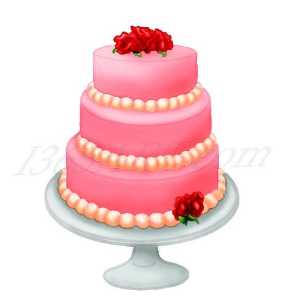 Dessert clipart pink picture royalty free download Sweet Pink Love Flower Cake Dessert Clip Art Sweets by I365Art ... picture royalty free download