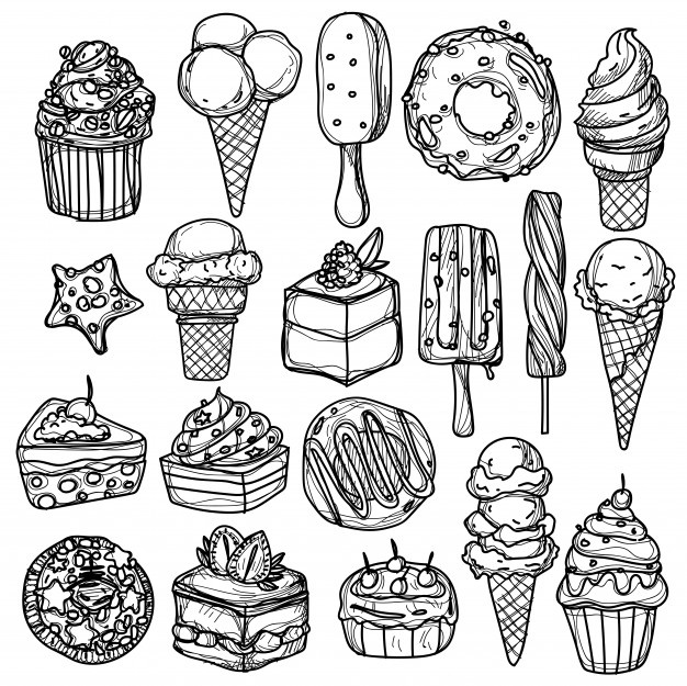 Desserts clipart black and white free buffet clip art royalty free download Dessert Vectors, Photos and PSD files | Free Download clip art royalty free download