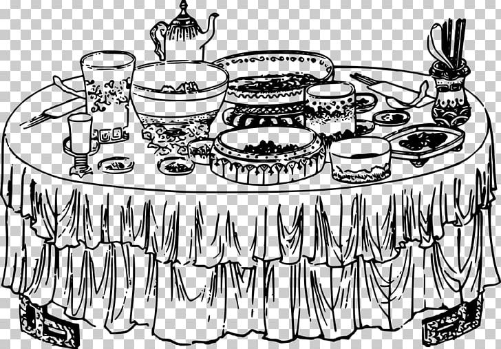 Desserts clipart black and white free buffet vector transparent library Buffet Table Breakfast PNG, Clipart, Artwork, Black And White ... vector transparent library