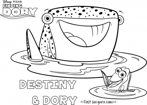 Destiny character clipart banner library stock printables cartoon #findingdory destiny coloring page for kids ... banner library stock