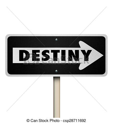 Destiny clip art picture download Stock Illustration of Destiny Future Fate One Way Road Sign ... picture download