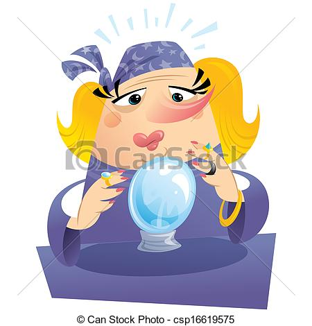 Destiny clip art transparent download Stock Illustrations of Witch gypsy clairvoyant looking to a ... transparent download