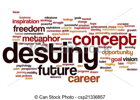 Destiny clipart. Stock illustrations of word