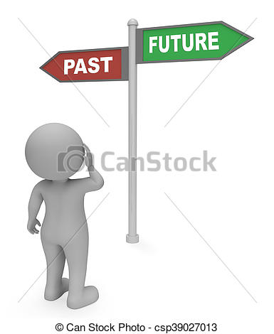 Destiny clipart hd clip black and white library Clipart of Past Future Sign Indicates Long Ago And Destiny 3d ... clip black and white library