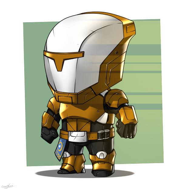 Clipartfest chibi by garyq. Destiny titan clipart